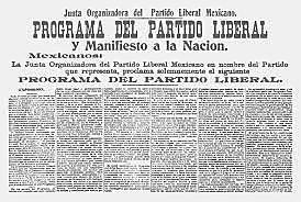 Programa y Manifiesto a la Nación Mexicana