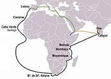 Vasco da Gama Sailing for Portugal