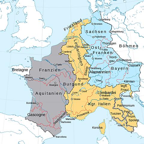 Fördraget i Verdun: Frankrike och Tyskland tar form