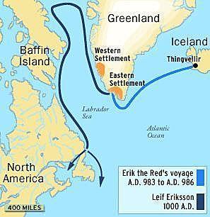 Leif Erickson Sailing for Europe