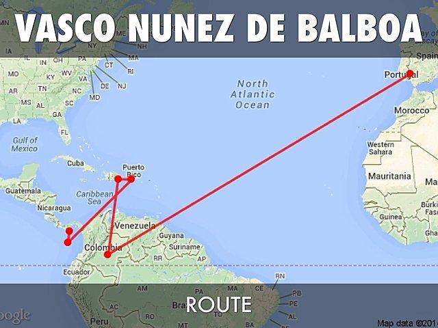 Vasco Nunez de Balbo Sailed for Portugal