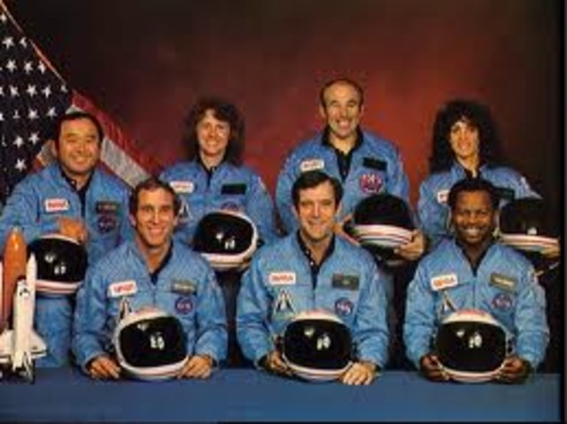 Challenger Space Shuttle Crashes