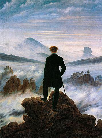 El caminante sobre el mar de nubes, Caspar David Friedrich