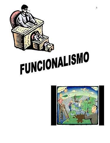 Escuela Funcionalista