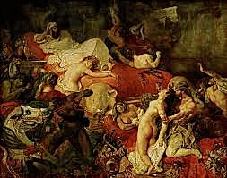 La muerte de Sardanápalo, Eugène Delacroix