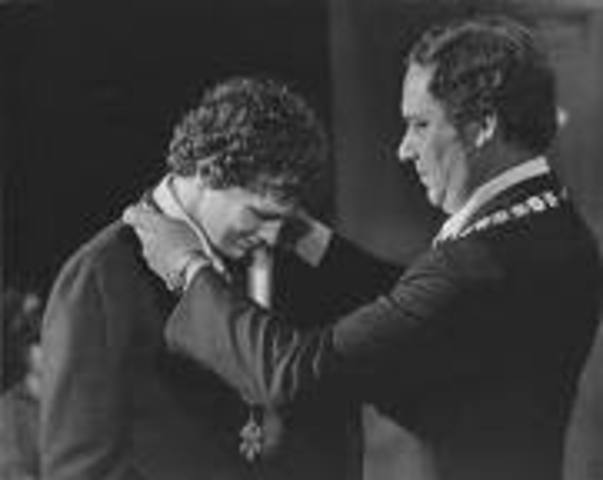 Terry Fox is Awarded The order of Canada