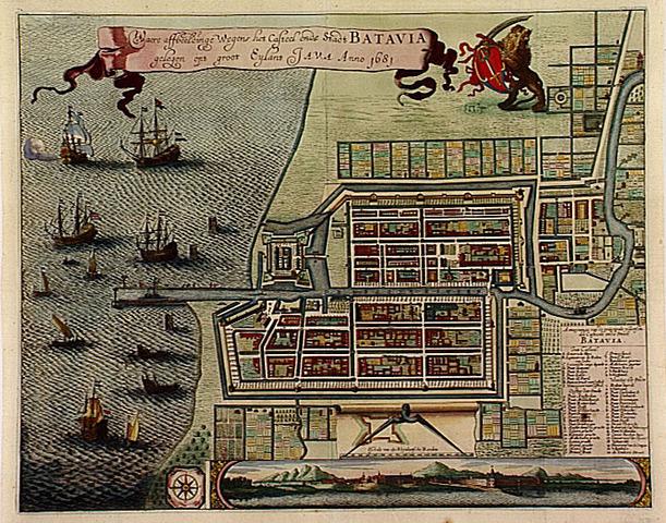 """VOC hoofdkwartier """"Batavia"""" op Java"""