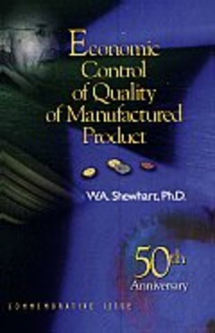 W.A Shewhart publica economic control of Quality of Manufactured Product