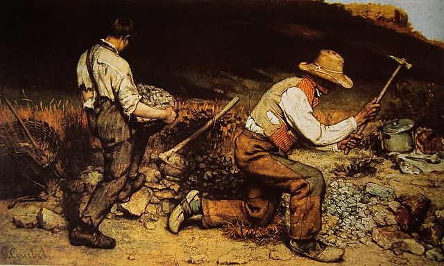 Pintura Realista, Los Picapedreros - Courbet (1819-1877)
