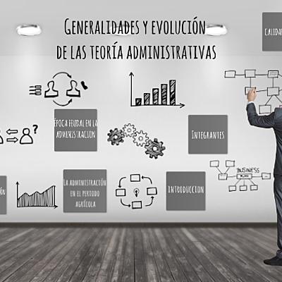Generalidades y evolución de las teorías administrativas timeline