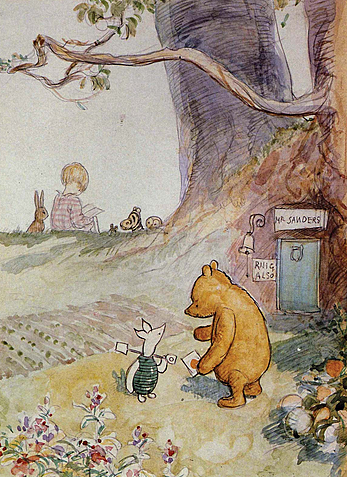 Pooh, Piglet, Eeyore and the others make their first appearance in A.A. Milne's Winnie-the-Pooh