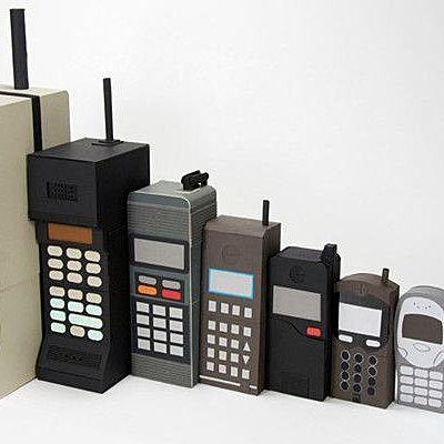 Les diferents generacions dels teléfons mòbils timeline