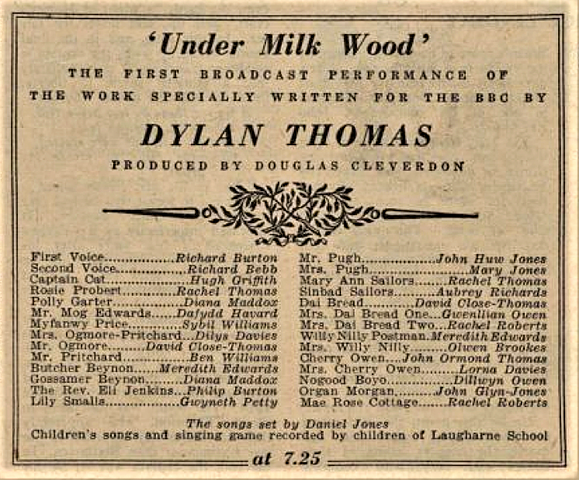 Dylan Thomas's Under Milk Wood - BBC radio