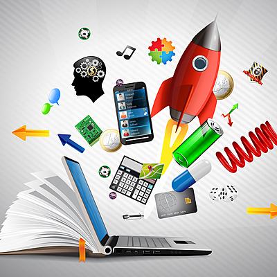 Evolución de los recursos educativos digitales timeline