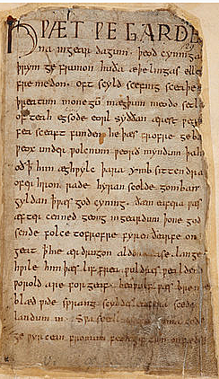 Beowulf, the first great work of Germanic literature, mingles the legends of Scandinavia with the experience in England of Angles and Saxons
