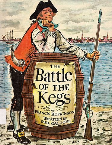 Francis Hopkinson's popular ballad The Battle of the Kegs describes an ingenious American threat to the British navy
