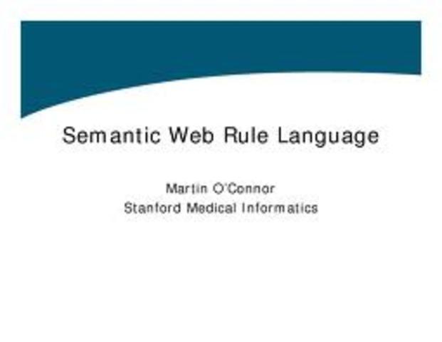 SWRL o SEMANTIC WEB RULE LANGUAJES