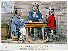 Bret Harte's comic ballad Plain Language from Truthful James acquires a popular alternative title, The Heathen Chinee