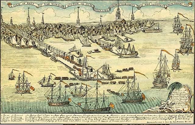 British Troops Arrive in Boston