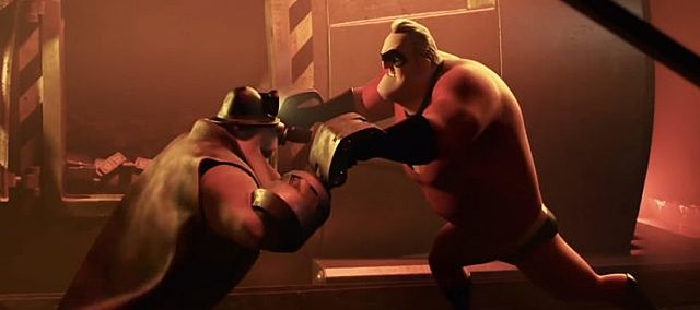 The Incredibles fight the underminer