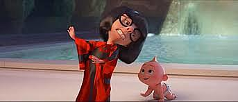 Bob has to have Edna mode babysit jack jack to control his powers