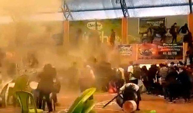 Juventudes del MAS denuncian gasificación en una concentración en el Complejo Fabril en El Alto