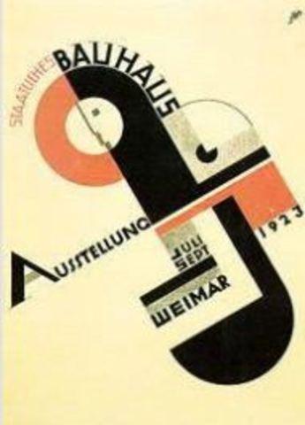 1era. exposición del Bauhaus en Weimer