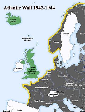 Création du mur de l'Atlantique *