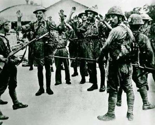 The WW2 Jaopanese invasion of the Philipines