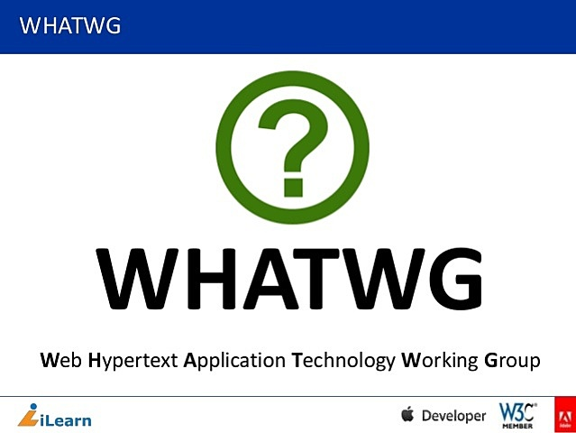 WHATWG - Comunidad interesada en la evolución de HTML