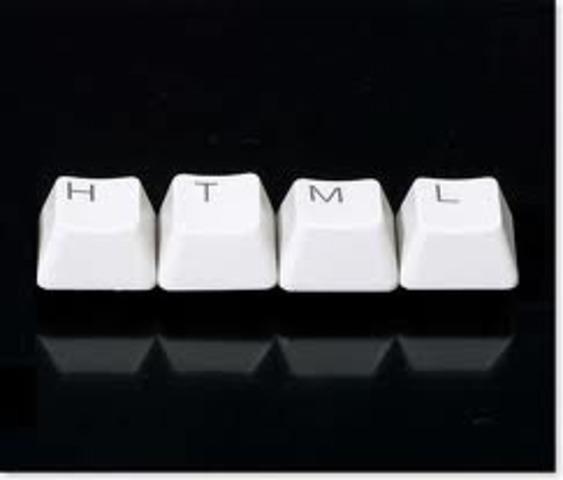 La primera descripción de HTML disponible públicamente fue un documento llamado HTML Tags (Etiquetas HTML), publicado por primera vez en Internet por Tim Berners-Lee en 1991.1 2 Describe 22 elementos comprendiendo el diseño inicial y relativamente simple