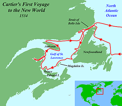 Jacques Cartier: French Lands in N. America