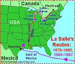 Rene-Robert de La Salle: Mississippi Land