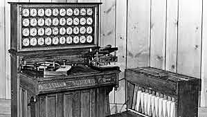 La tabuladora de Hollerith (1889).