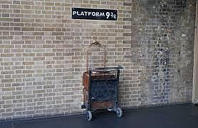 The journey from the platform Nine and Three-quarters