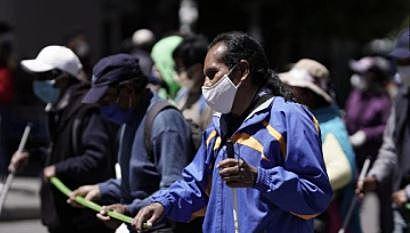 Ciegos marchan en demanda de un bono de Bs 1.000 para los «discas»