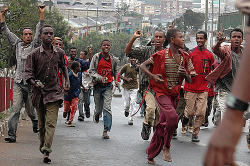 The Uprising for the Coalition for Unity and Democracy Party in Ethiopia ( ቅንጅት )