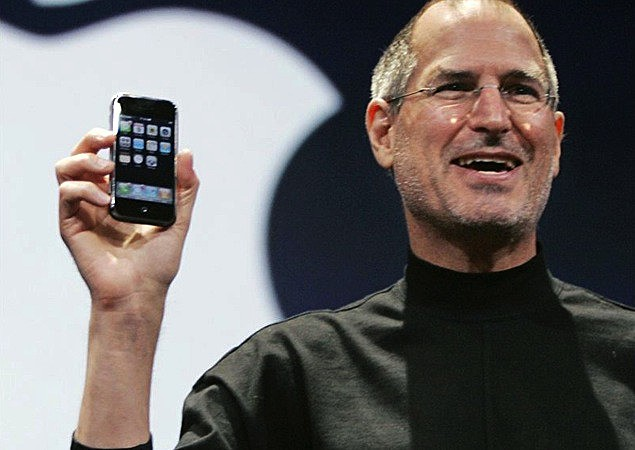 Introduces the iPhone