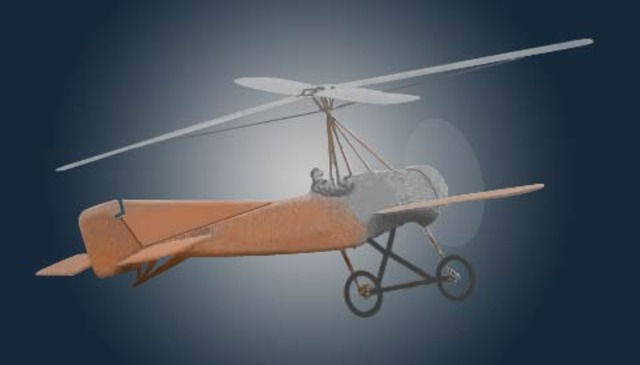 The first autogyro (heliplane)