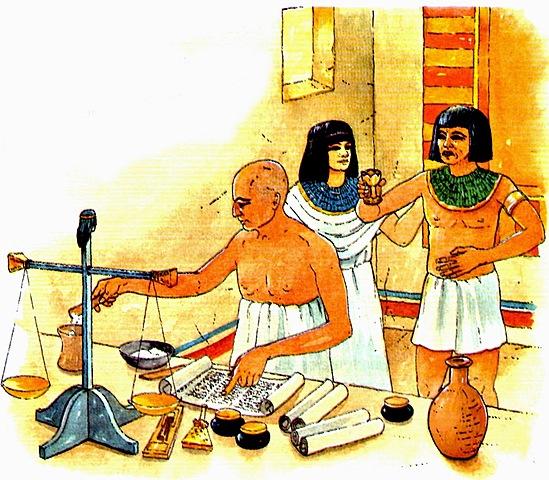 Egipto (3000 a.C.) La exportación tomó forma con el envío de madera, marfil, oro, vino y aceite.