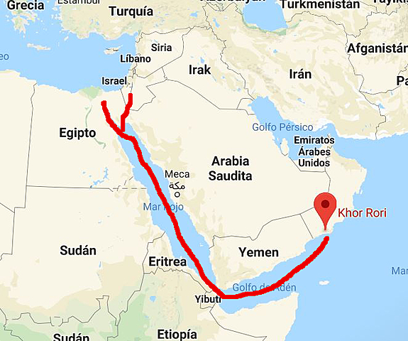 1A Ruta del incienso. Ruta de comercio entre Egipto a India a través de Arabia y de ahí llevaban mercancías a Europa.