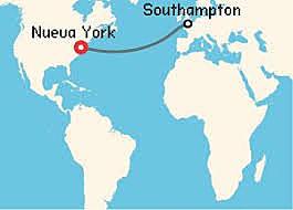 Travesías transatlánticas. Iban de Europa, India, China a New York.