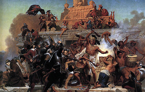 Spanish Conquistador Hernan Cortez Conquers the Aztec Empire