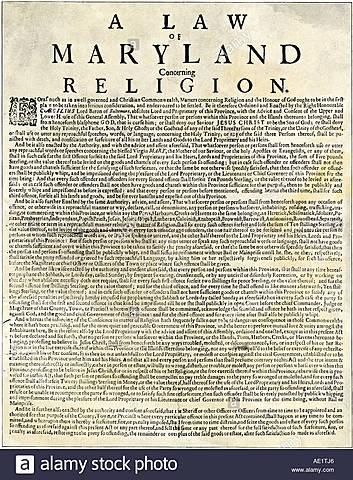Maryland Toleration Act