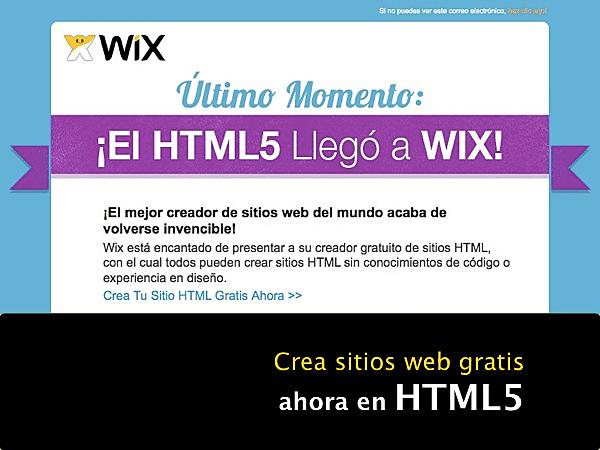 Incremento en el uso de HTML 5