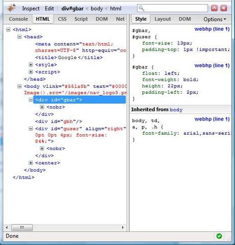 Creacion del codigo HTML