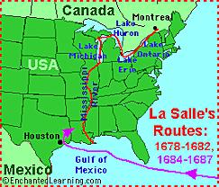 Rene-Robert de La Salle: Mississippi River