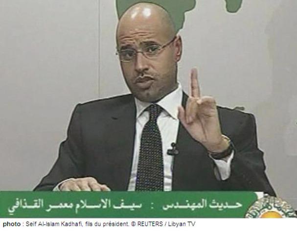 Le fils de Kadhafi menace