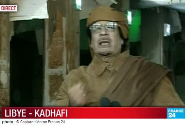 Kadhafi ne renonce pas