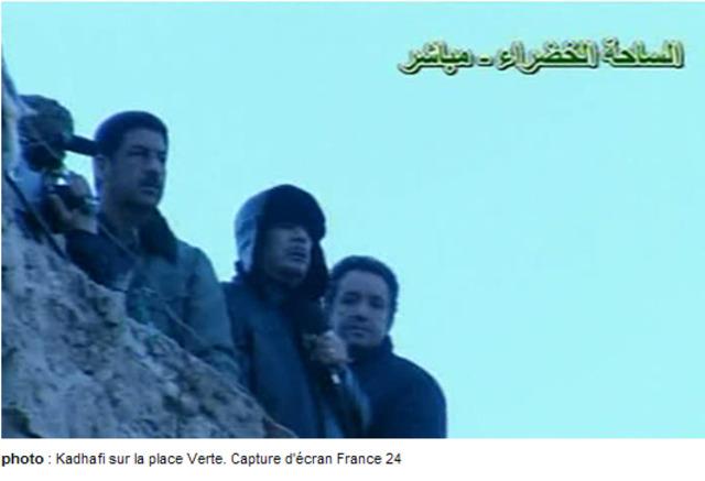 Nouvelle apparition de Kadhafi
